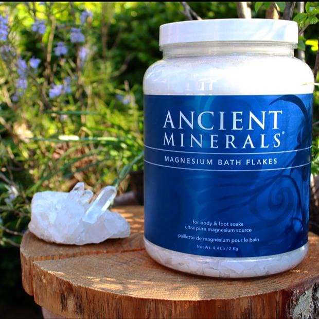 Ancient Minerals Magnesium Bath Flakes ~ 4.4LB jar